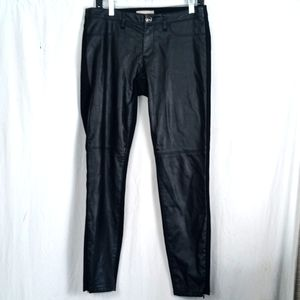 Banana Republic Sloan faux leather front skinny